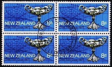 New Zealand. 1971 8c (Block of 4) S.G.951 Fine Used