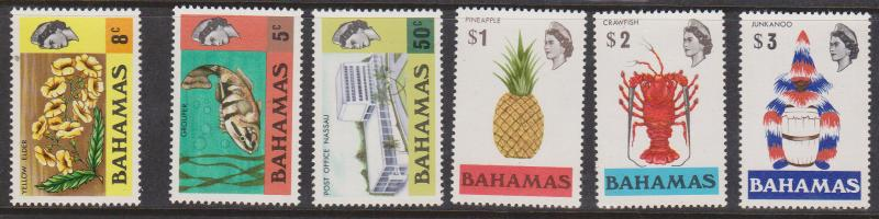 Bahamas Scott 2015 #317a//330a Mint Changed Watermark Set of Six - VF-LH
