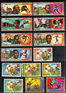 ECUATORIAL GUINEA  CTO STAMP LOT 5 1972+74 MINICH  OLYMPICS  SEE SCAN