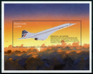 Sierra Leone Aviation Stamps 1997 MNH Aerospatiale BAC Concorde Jet 1v S/S