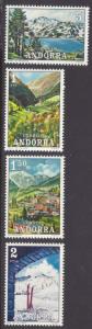 ANDORRA-SPANISH SCOTT 63-66