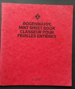 BOOK FOR HOLDING MINT SHEETS 12 Pages 24 Sheets Bogenmappe 31X27cm  11X12' Good