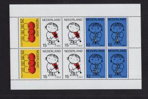 Netherlands  #B452-B456a  MNH  1969  sheet  child welfare