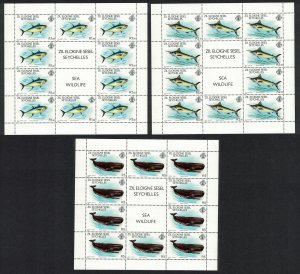 ZES Seychelles Tuna Marlins Whales 3v in Full Sheets SG#20-22