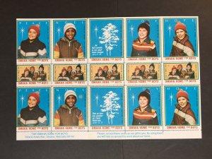 Omaha Home For Boys Nebraska Christmas Poster Stamps Labels 15 MNH Cinderellas