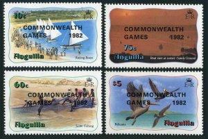 Anguilla 507-510,MNH.Michel 511-514. 12th Commonwealth Games,1982.Pelicans,Boat,