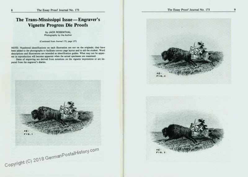 Essay-Proof Journal No173 De La Rue Trans-Mississippi 44693
