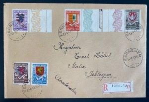 1941 Eernegem Belgium First Day Registered Cover To Jehtegem