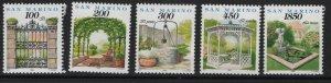 SAN MARINO,1301-1305, (5) SET, MNH, 1994 Gardens