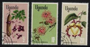 Uganda Flowers 3v The highest values 1969 CTO SG#143-145
