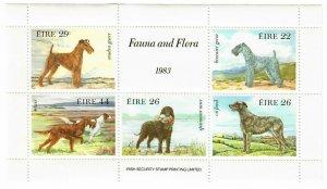 Ireland 567a MNH Sheet Dogs (SCV $6.00)