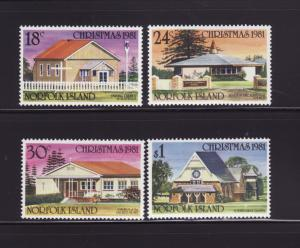 Norfolk Island 283-286 Set MNH Christmas, Churches