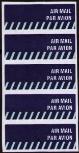 SINGAPORE AIR MAIL LABELS STICKERS PANE OF 5, NICE LOT, SEE THE SCANS