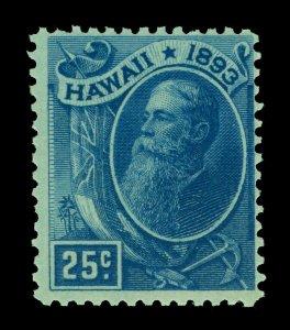 HAWAII 1894 Pres. Sanford Ballard Dole  25c deep blue  Scott # 79 mint MNH