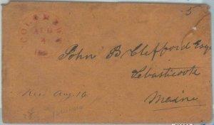 72325 - UNITED STATES USA - PREPHILATELIC Cover:  COLUMBUS, ILL  1800's - 5 cent
