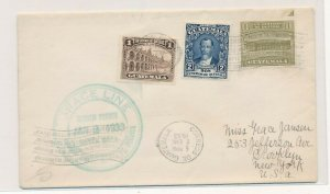 D174417 Guatemala Cover 1933 Grace Line Maiden Voyage Brooklyn New York USA