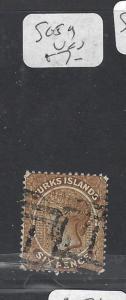 TURKS  ISLANDS (P3009B)  QV 6D  SG 59    VFU
