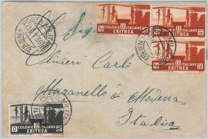 53452 - ERITREA  - Storia Postale: BUSTA con annullo POSTA MILITARE 102 1936