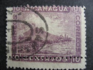 Nicaragua misperforation error Sc 161 used, interesting error check the pictures