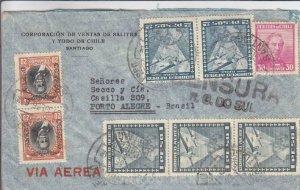 1936, Santiago, Chile to Porto Alegre, Brazil, Censored, See Remark (C3542)