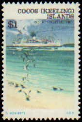 Cocos Islands #20-31, Complete Set(12), 1976, Ships, Never Hinged