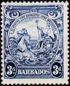 Barbados. 1938 3d S.G.252c Mounted Mint