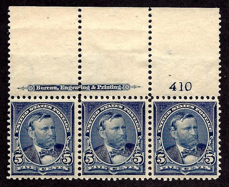 281 Mint,OG,NH... Strip of 3... SCV $300.00