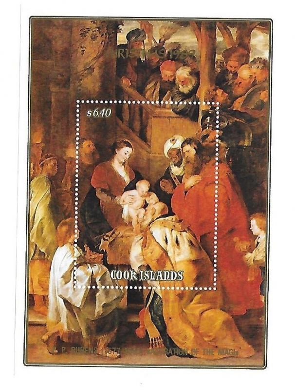 Cook Islands 1989 Christmas Adoration of the Magi S/S MNH C1