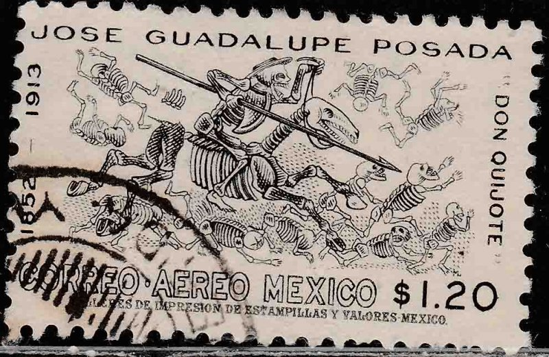 MEXICO C278, 50th Anniv. of the death of J. Guadalupe Posada. USED. VF. (630)