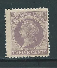 Prince Edward Island 16 12c Victoria single MLH