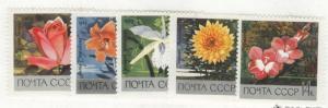 Russia Scott 3596-3600 MNH** 1969 Flower set