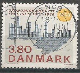 DENMARK, 1986, used 3.80k, Economic Cooperation Scott 831