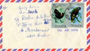 Saint Lucia 5c St. Lucia Parrot and 15c Common Gallinule 1976 Debreuil, St. L...