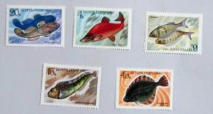 Russia - 5164-68, MNH Set. Food Fish. SCV - $2.30