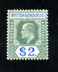BRITISH HONDURAS #70 MINT FVF OG HR Cat $140