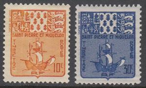 St. Pierre & Miquelon J68-J69 MH short set CV $0.80