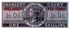 (I.B) QV Revenue : Ireland Chancery Fee Fund 1/- (specimen)