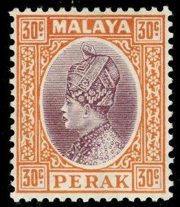MALAYSIA - Perak SG97, 30c dull purple & orange, VLH MINT.