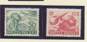 Poland Stamps Scott #B86 To B87, Mint Hinged