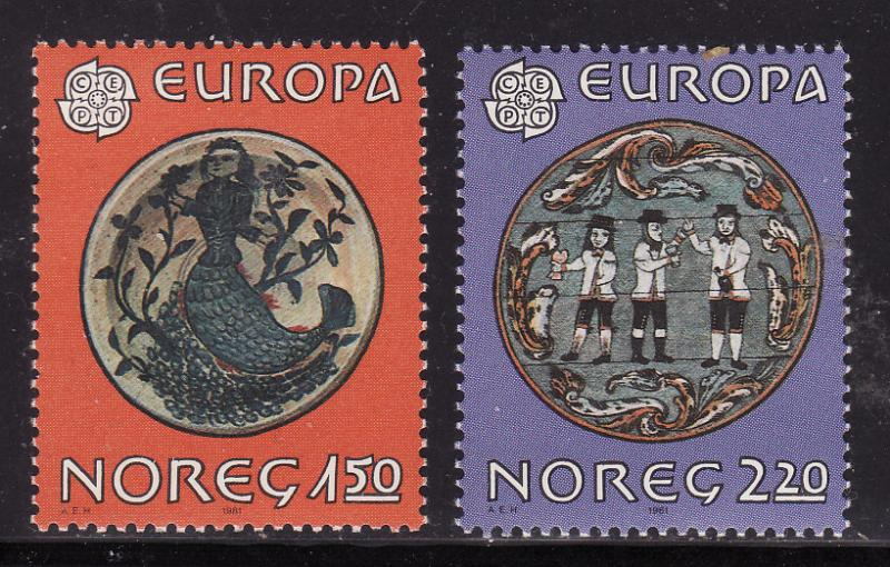Norway #781-82, F-VF Mint NH ** Folk Art