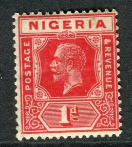 NIGERIA; 1921 early GV issue fine Mint hinged Shade of 1d. value