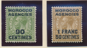 Great Britain, Offices In Morocco Stamps Scott #420 To 421, Mint Hinged - Fre...