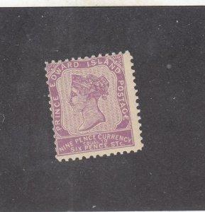 PRINCE EDWARD ISLAND # 8  F-MNH 9d 1862-65 QUEEN VICTORIA /VIOLET CAT VALUE $150