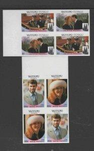 TUVALU-VAITUPU #65-66 1986 WEDDING OF PRINCE ANDREW IMP B/P MINT VF NH O.G