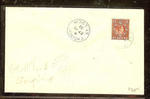 ST LUCIA (P2104B)  1953 KGVI 3C CHOISEU