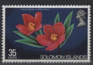 Solomon Is. - Scott 307 - Overprint -1975 - MVLH - Single 35c Stamp