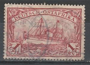 GERMAN EAST AFRICA 1901 YACHT 1R NO WMK USED