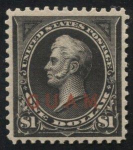 Guam 12 Mint NH Very Fine, reperfed at top SCV $700 (TJ 10/19)