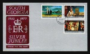 South Georgia 1977 QEII Silver Jubilee FDC - L1095