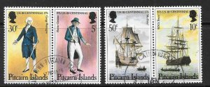 PITCAIRN ISLANDS SG167/70 1976 AMERICAN REVOLUTION FINE USED